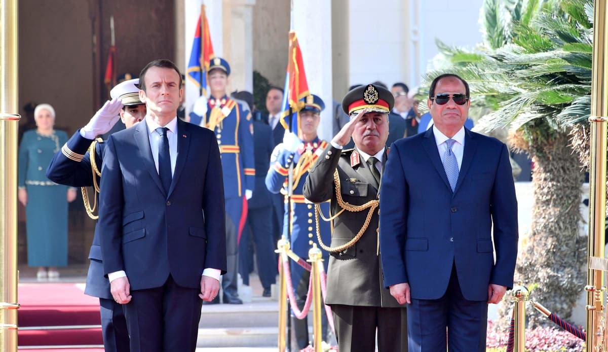 Emmanuel Macron ja Abdel Fattah al-Sisi