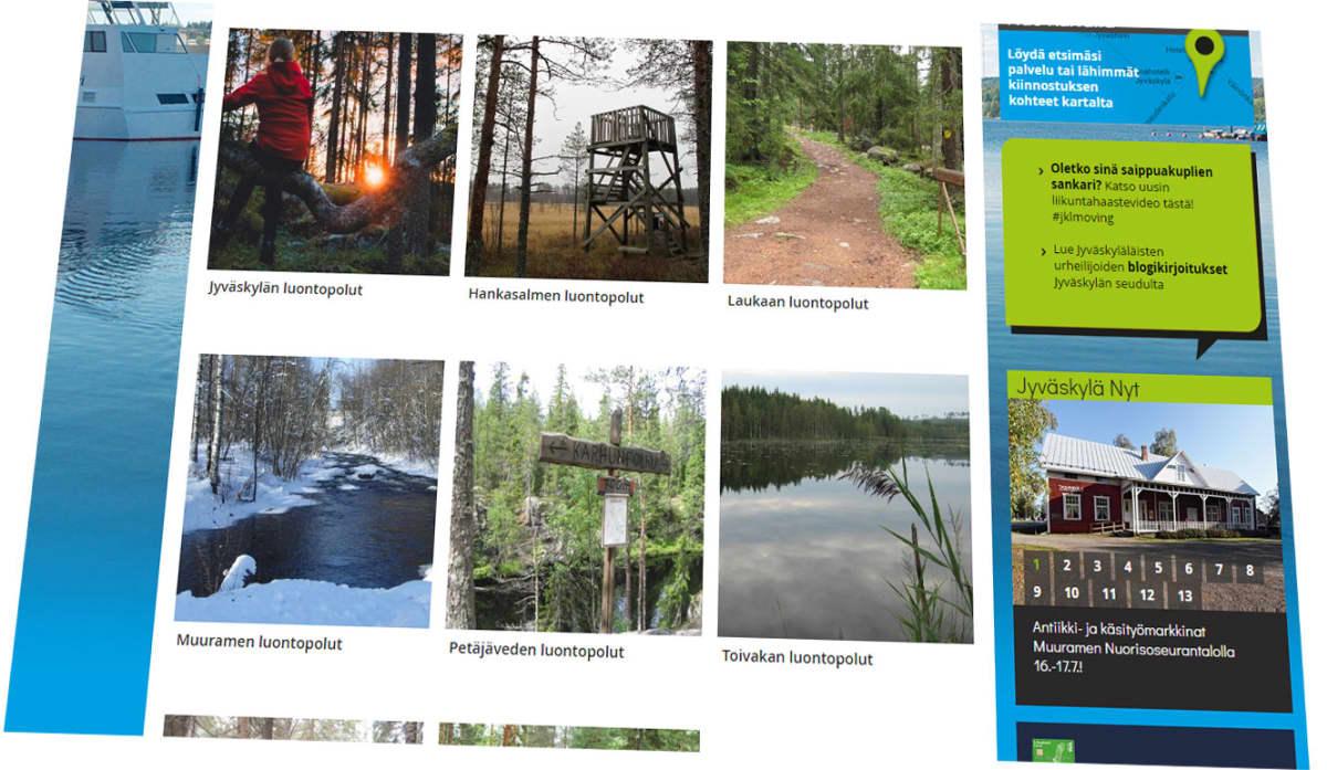 Kuvakaappaus Vistit Jyväskylä -sivustolta