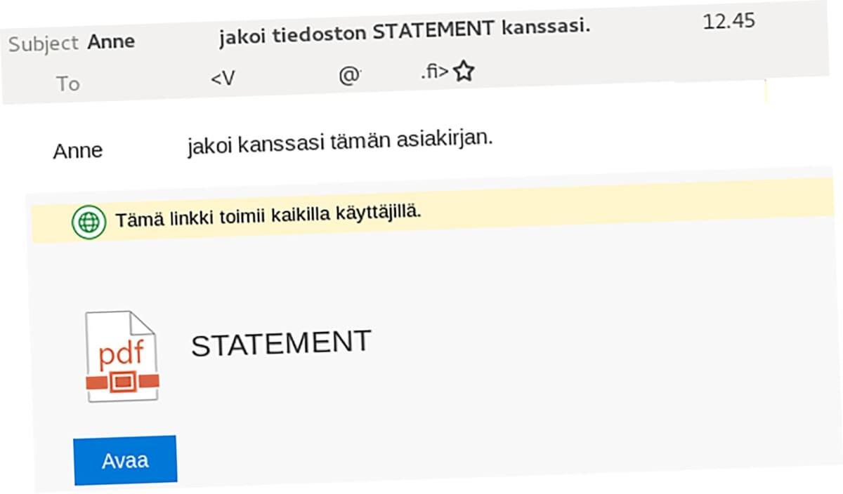 Så här kan ett phishing-mejl se ut.