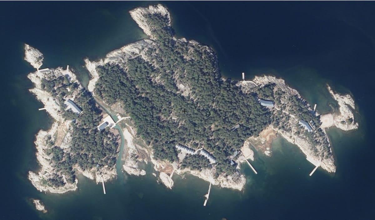 Ilmakuva Säkkiluodon saaresta.