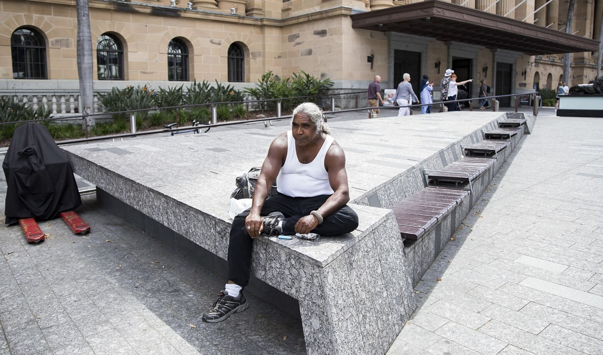 Aboriginaali Brisbanessa marraskuussa 2017.