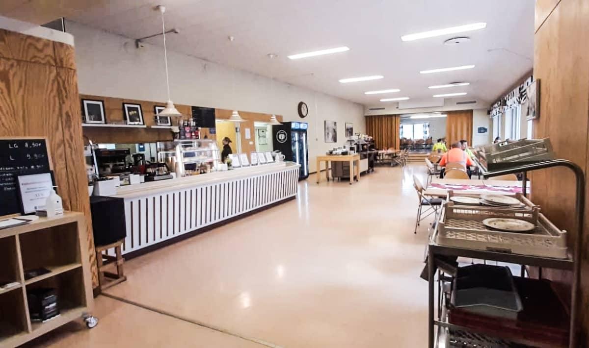 lounasravintola Karelian Gourmetin sisätilat.