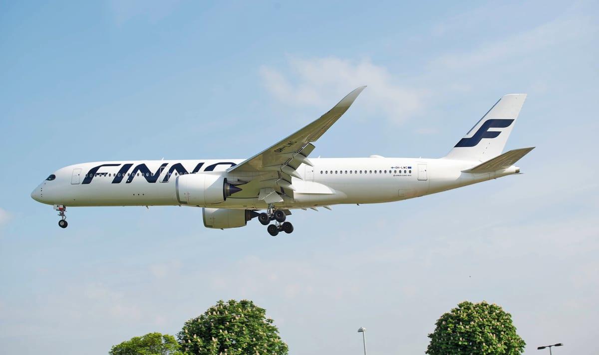 Finnairin A350 -lentokone.