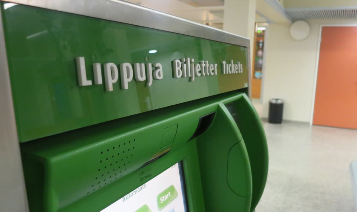 VR lippuautomaatti Rovaniemi