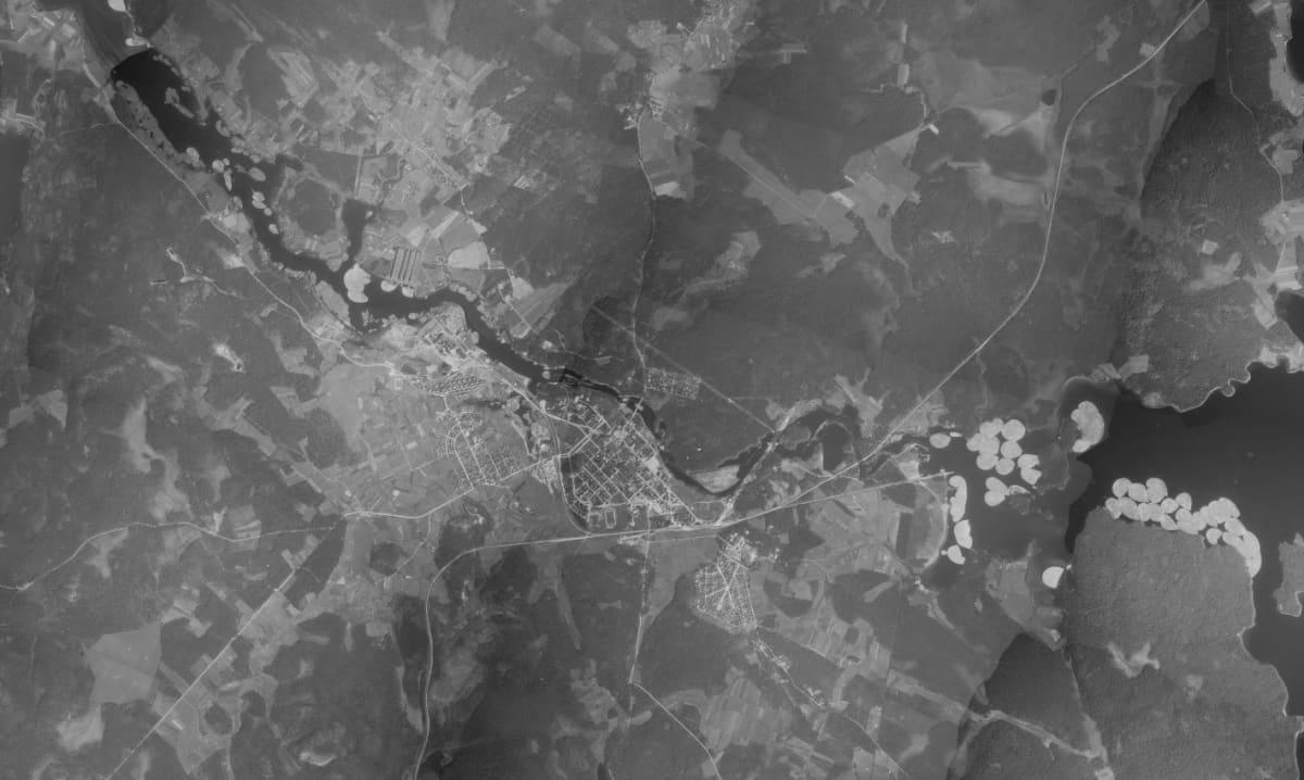 Ilmakuva Kajaanista 1939