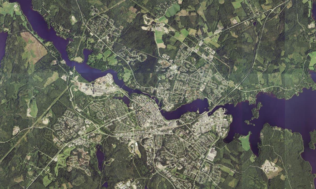 Ilmakuva Kajaanista 2014