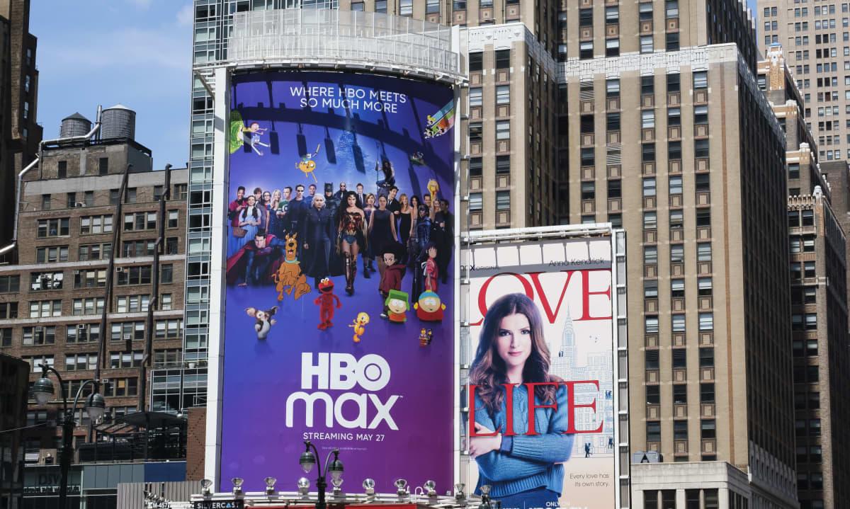 HBO Max on yksi viime vuosien uusista suoratoistopalveluista. Mainos New Yorkissa toukokuussa 2020.
