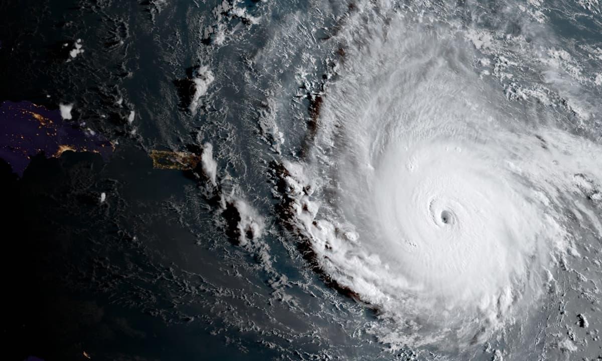 Satelliittikuva myrskystä.