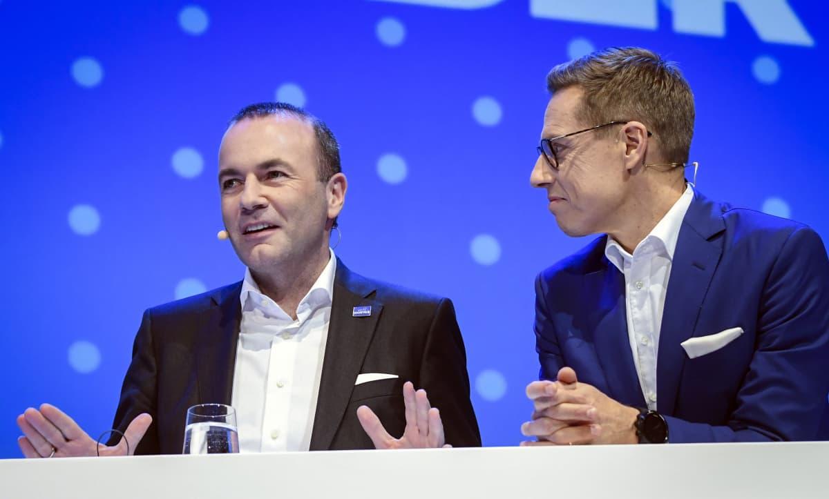 Alexander Stubb och Manfred Weber