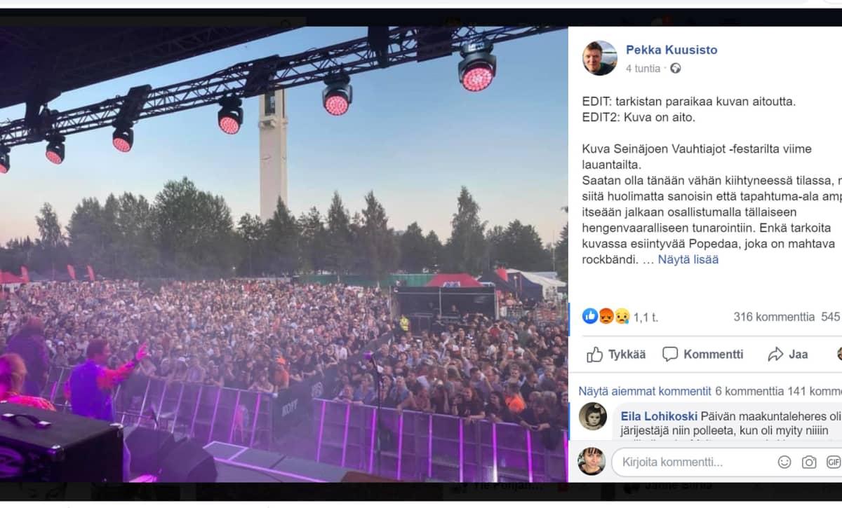 Ruutukaappaus Pekka Kuusiston facebookista