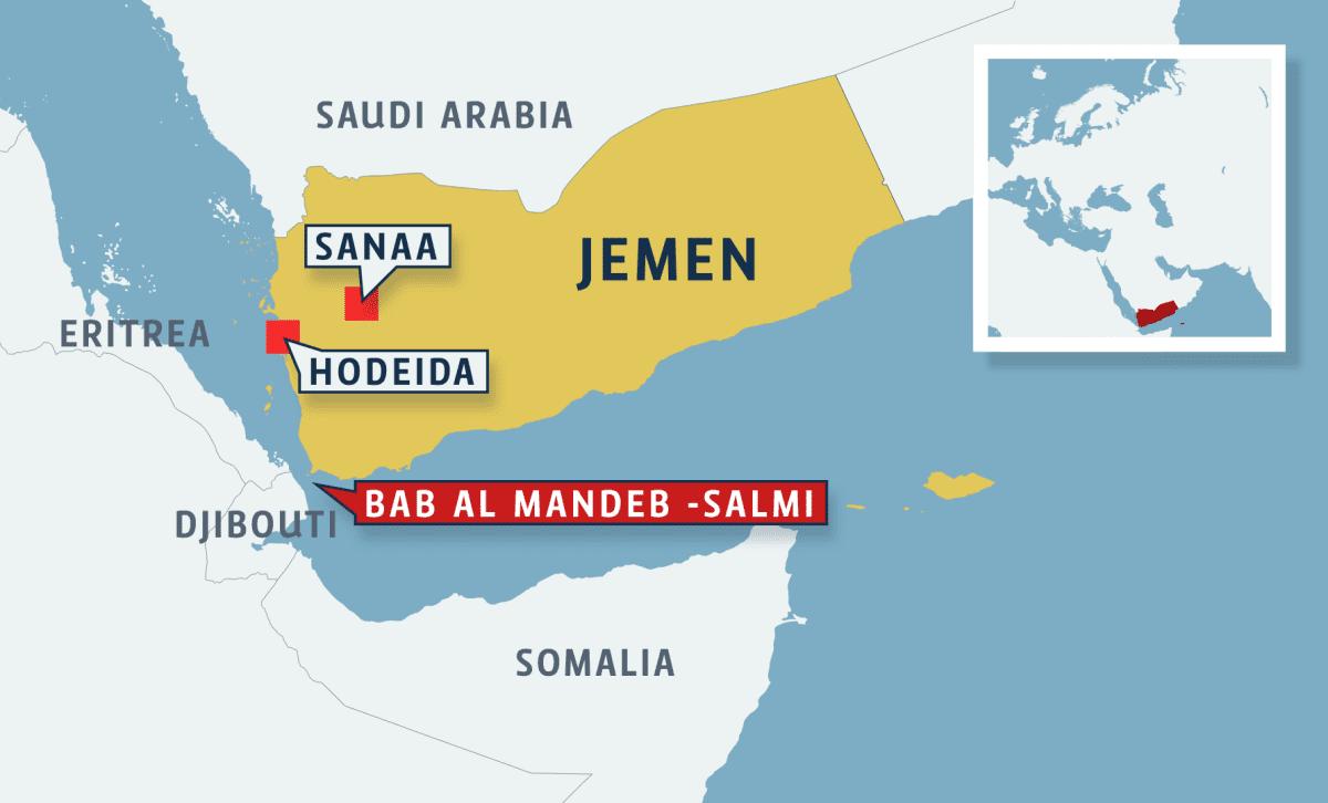 Jemenin kartta.