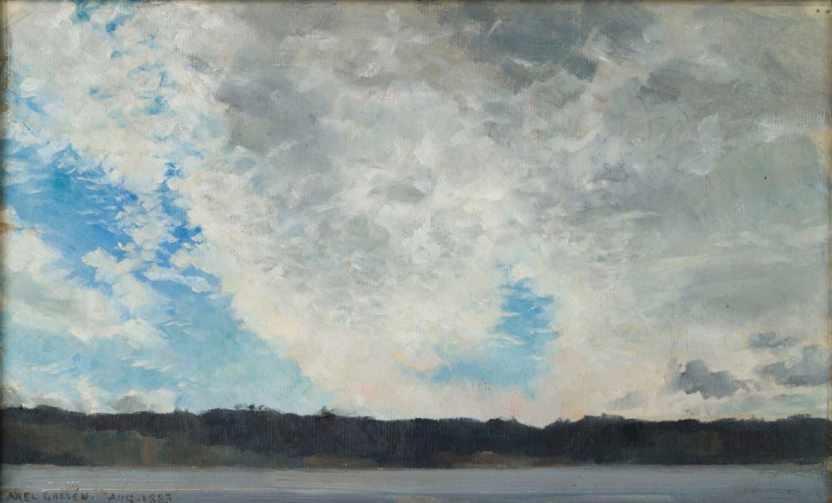 Teos Pilviä Tyrväällä, Akseli Gallen-Kallela, 1883