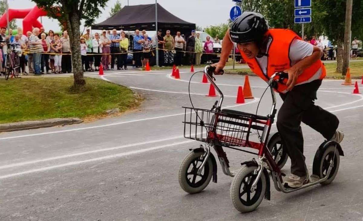 Kuva Keitele-päivien pyöräpotkurikisassa vuodelta 2018.