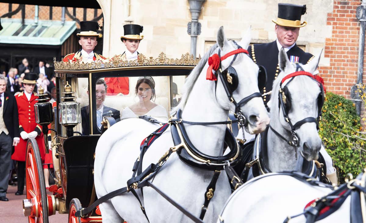 Yorkin prinsessa Eugenie ja Jack Brooksbank