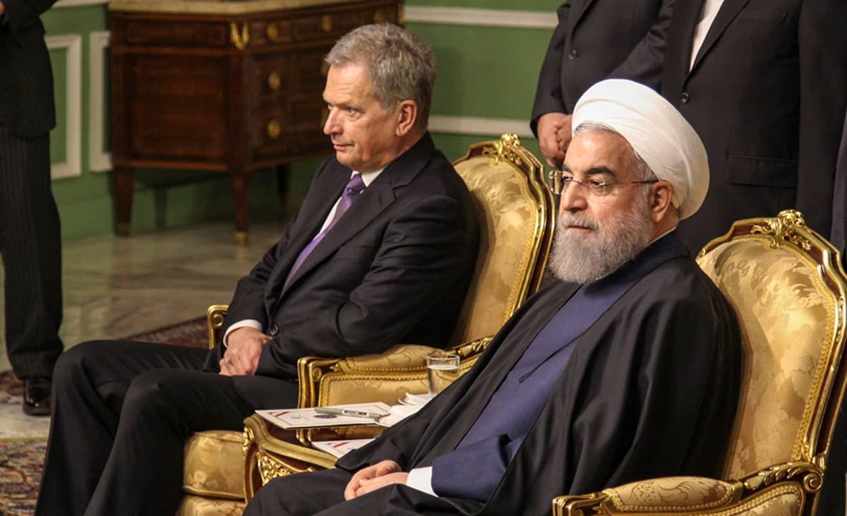 Sauli Niinistö ja Iranin presidentti Hassan Rouhani.