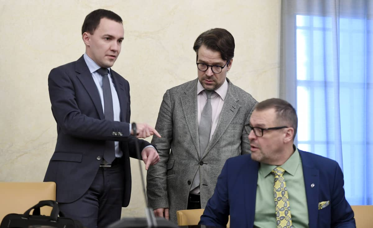 Wille Rydman, Ville Niinistö ja Matti Torvinen.