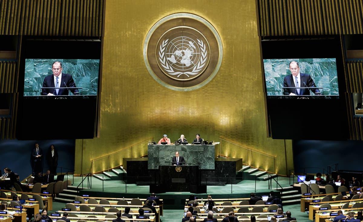 YK:n päämaja New Yorkissa.