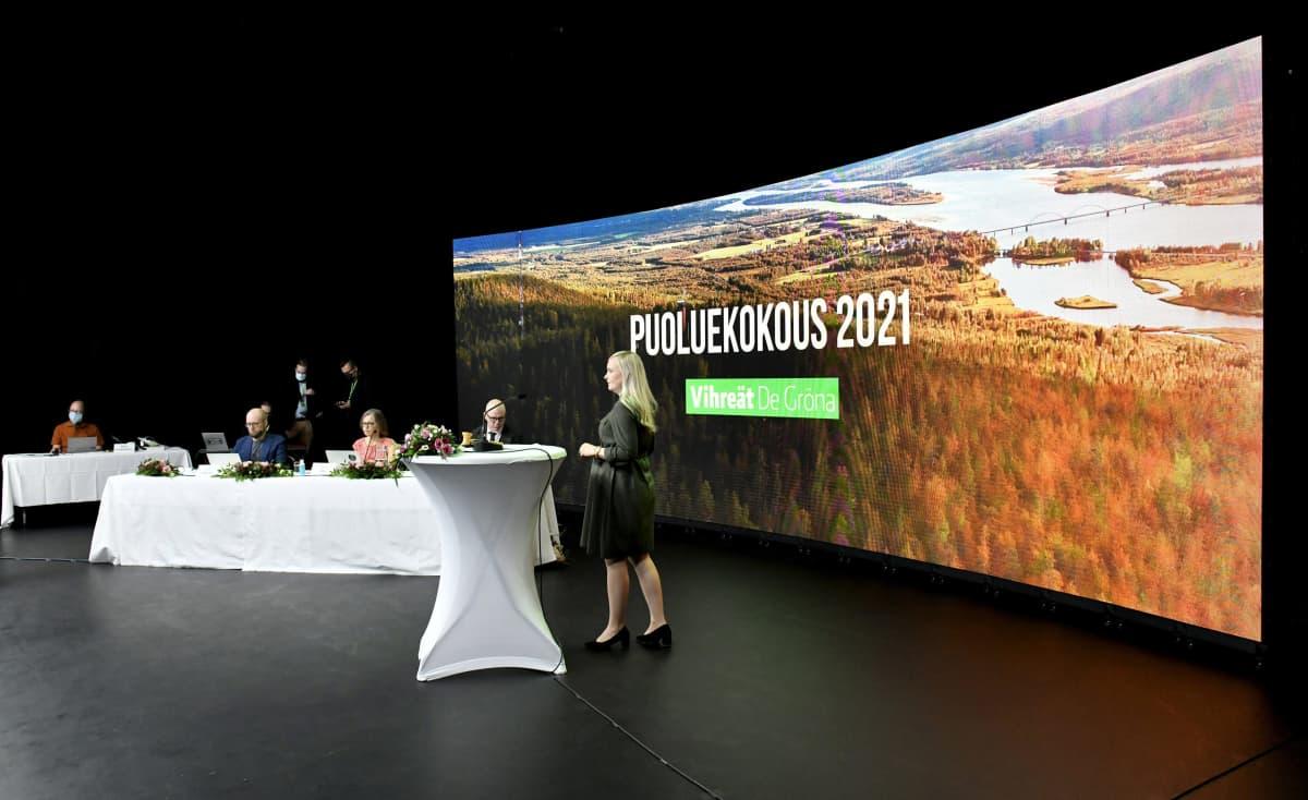 Vihreiden puoluekokous.