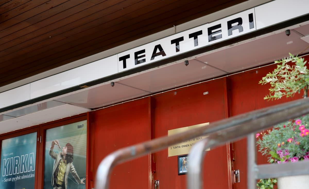 teatterin sisäänkäynti
