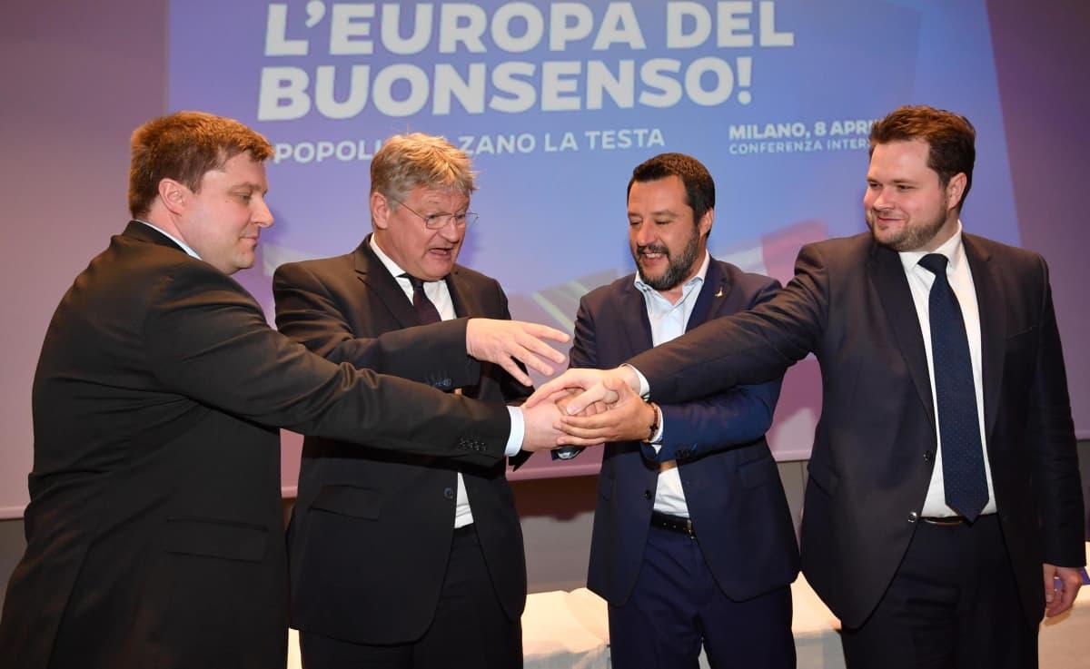 Salvinin yhteistyökokous Milanossa