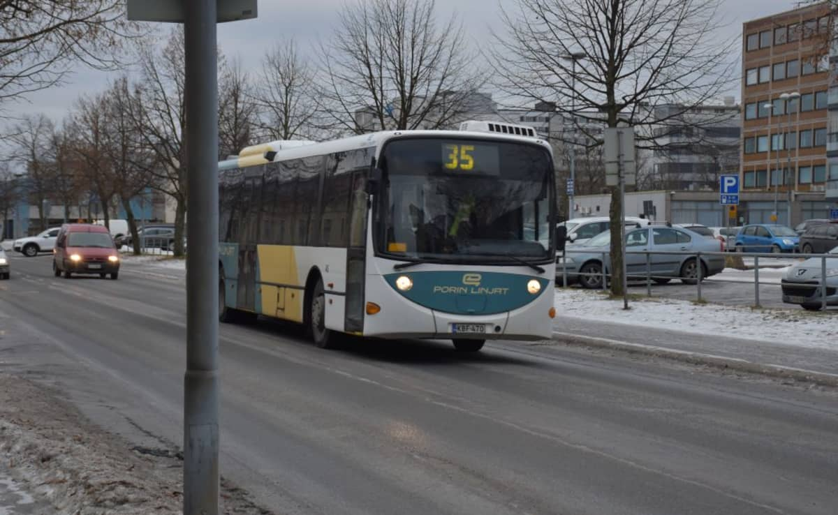 bussi Pori Porin Linjat Vähälinnankatu linja-auto