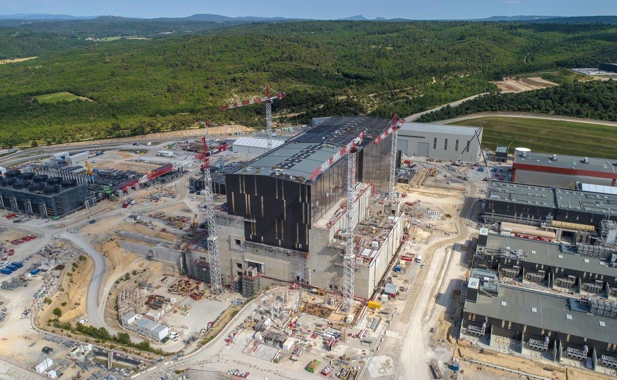 ITER-työmaa ilmasta kuvattuna