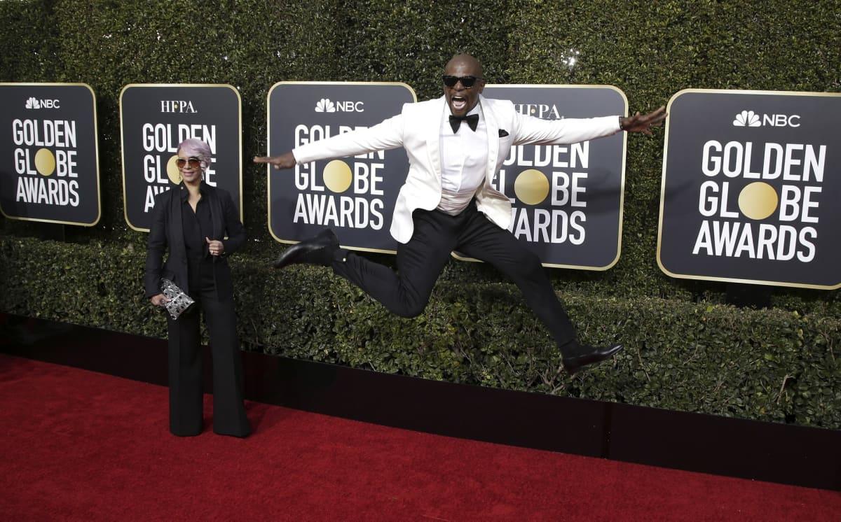Terry Crews and vaimo Rebecca King-Crews ovat saapumassa Golden Globe -gaalaan.