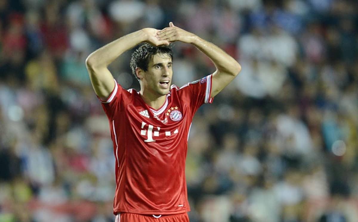 Bayern Münchenin Javi Martinezin reaktio.