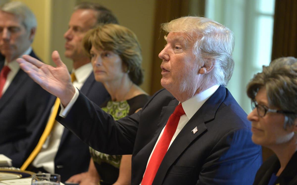 Trump keskustelee kongressin edustajien kanssa päivällispöydässä