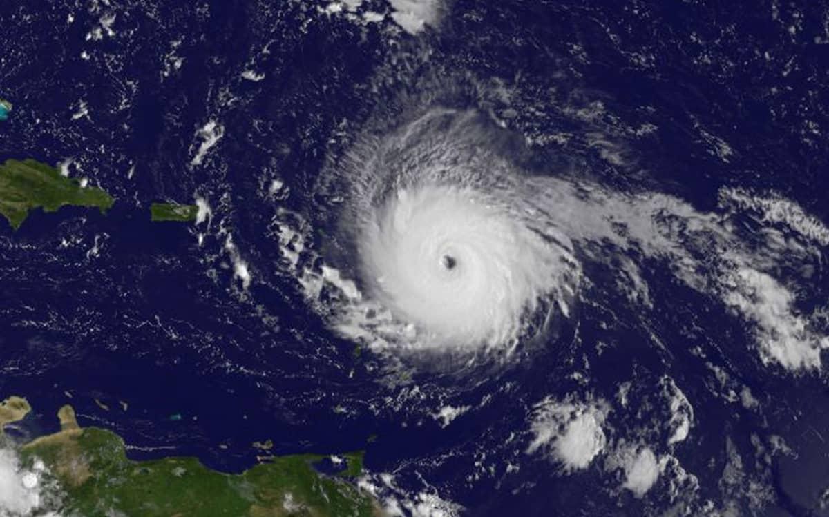 Hurrikaani Irma satelliittikuvassa.