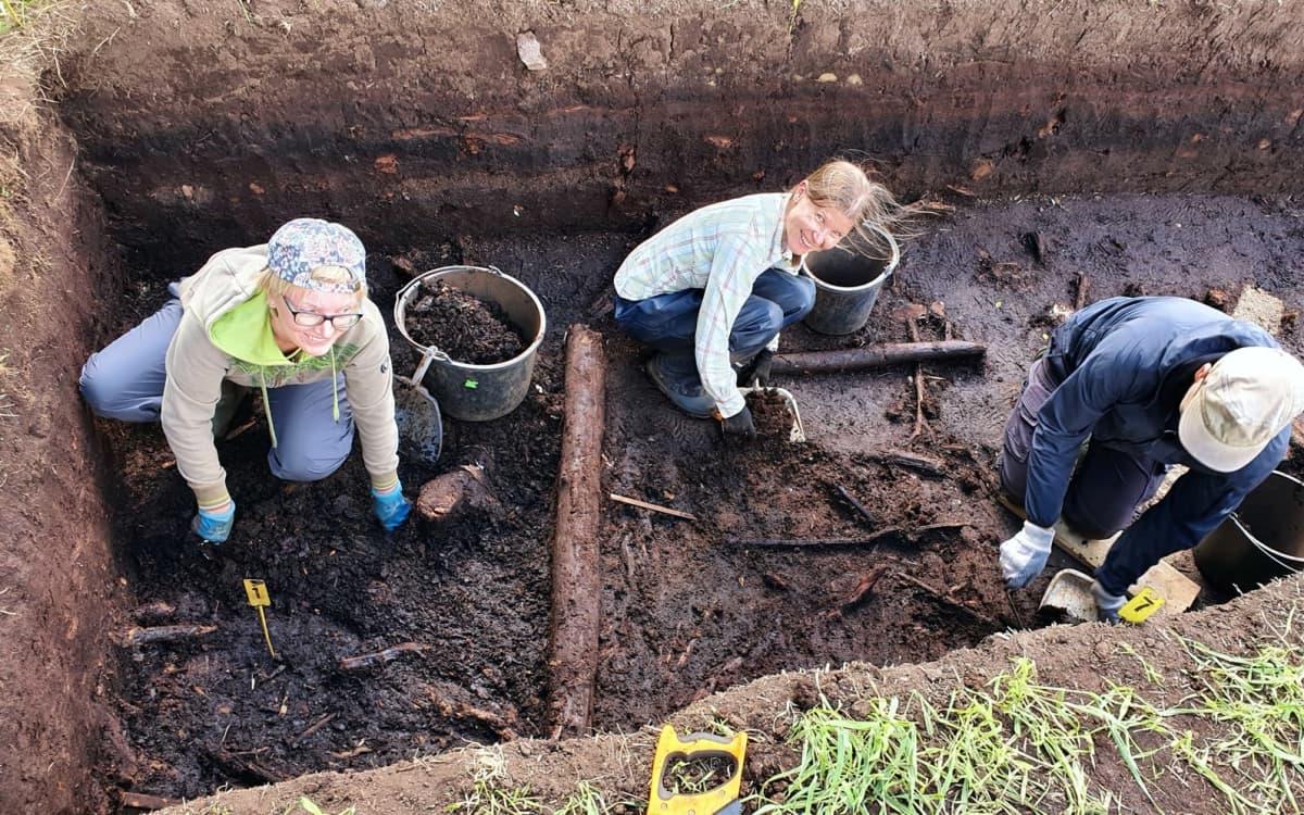 Kaivaukset käynnissä Järvensuolla kesällä 2020