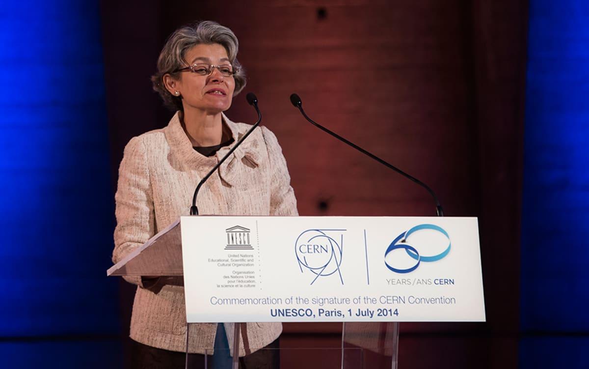 Unescon edustaja Irina Bokova Pariisissa 1. heinäkuuta 2014.