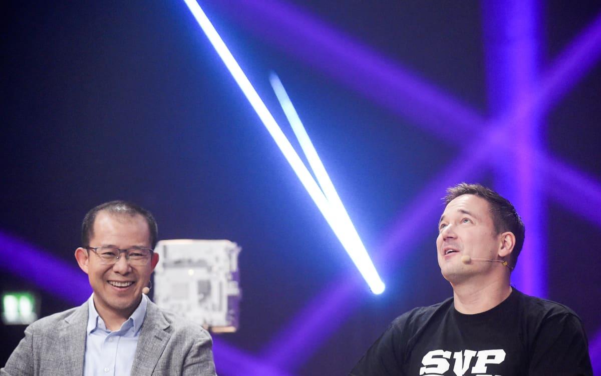 Martin Liu Tencent ja Ilkka Paananen Supercell.