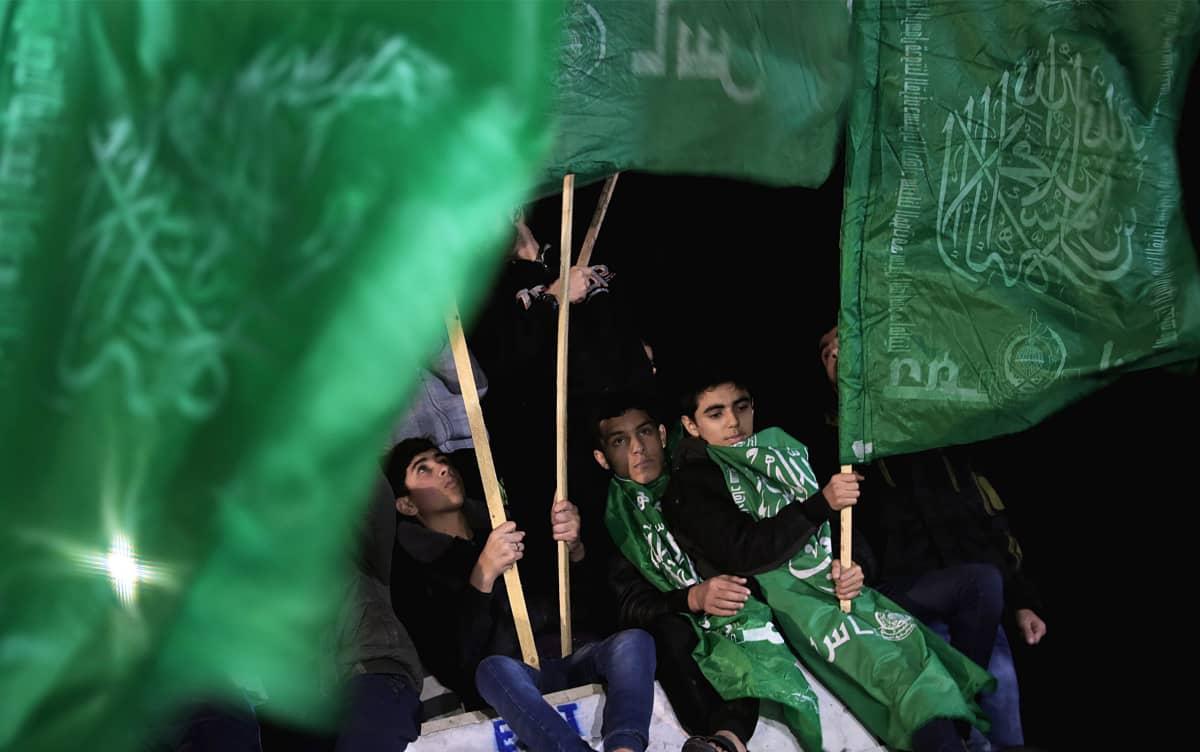 Gazan alueella osoitettiin keskiviikkoiltana mieltä