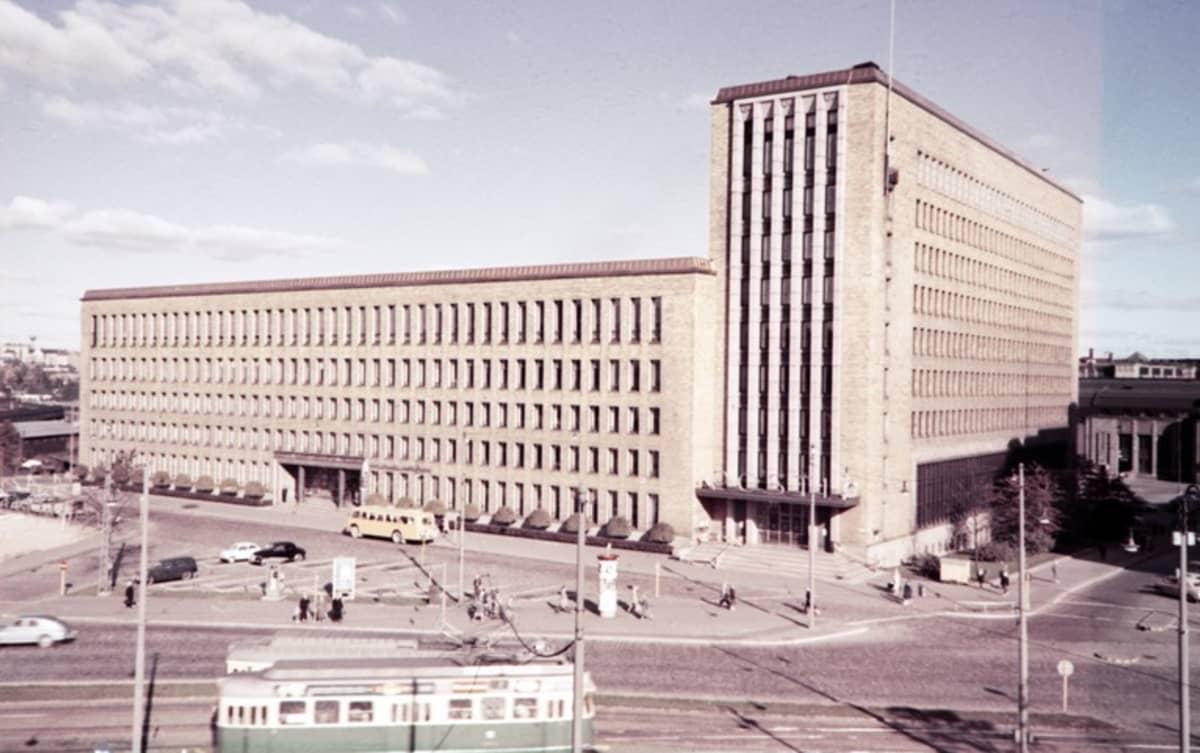 Postitalo kuvattuna 1960-luvulla.