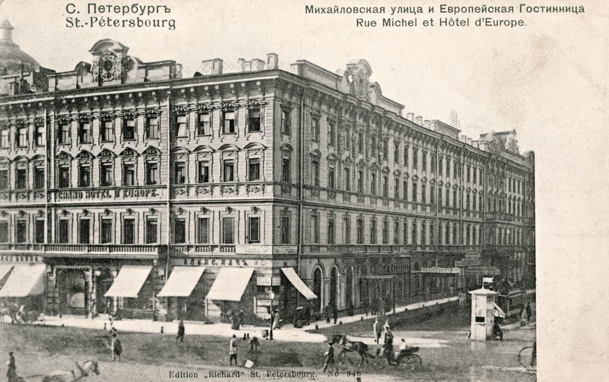 Grand hotelli Pietarissa.