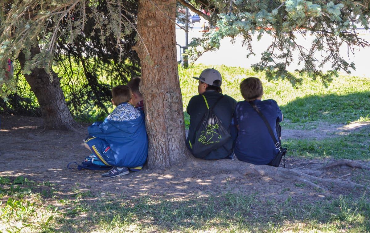Venäjä lapsia lapset puitossa.