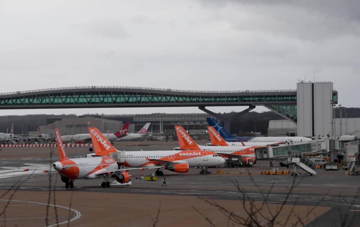 London-Gatwick flygplats.