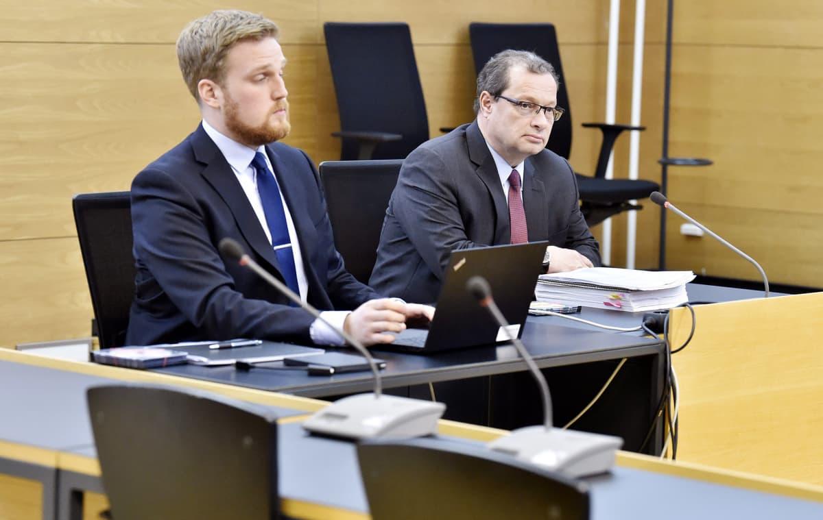 Juha-Mikko Hämäläinen Helsingin käräjäoikeudessa.