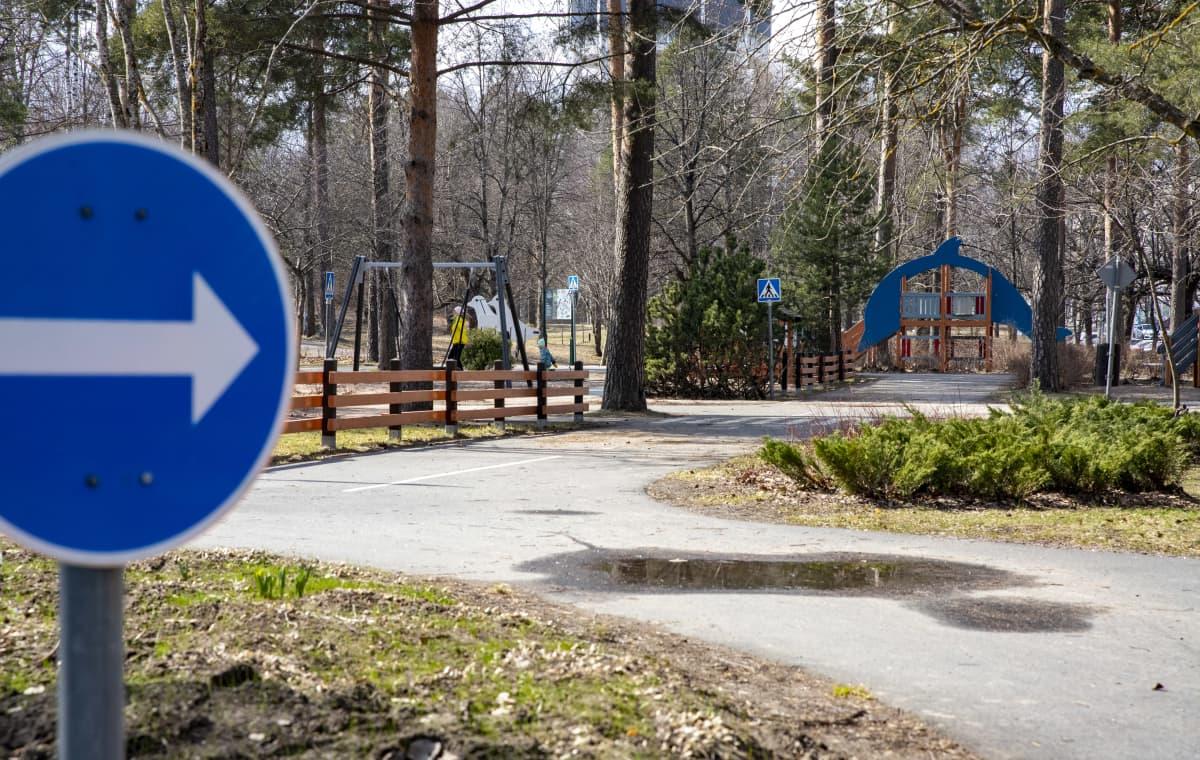 Lasten liikennepuisto Lappeenrannassa.