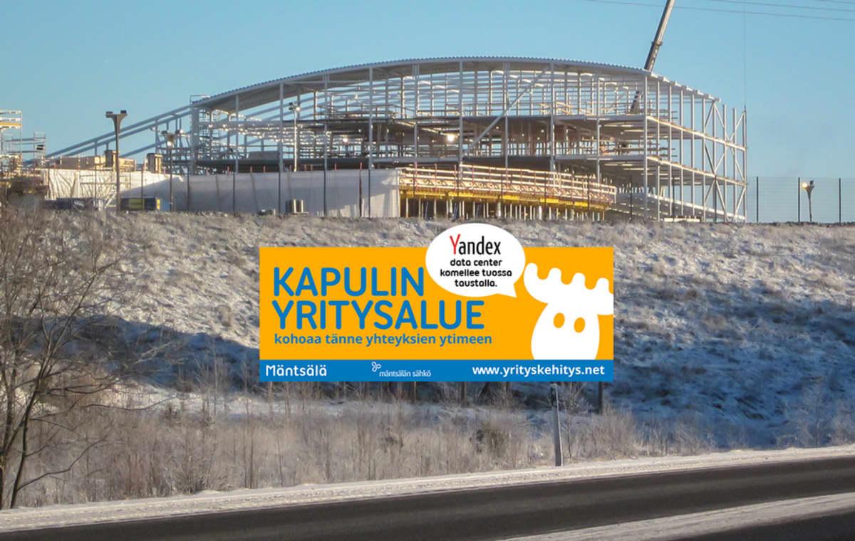Yandexin palvelinkeskus rakentuu Mäntsälään.