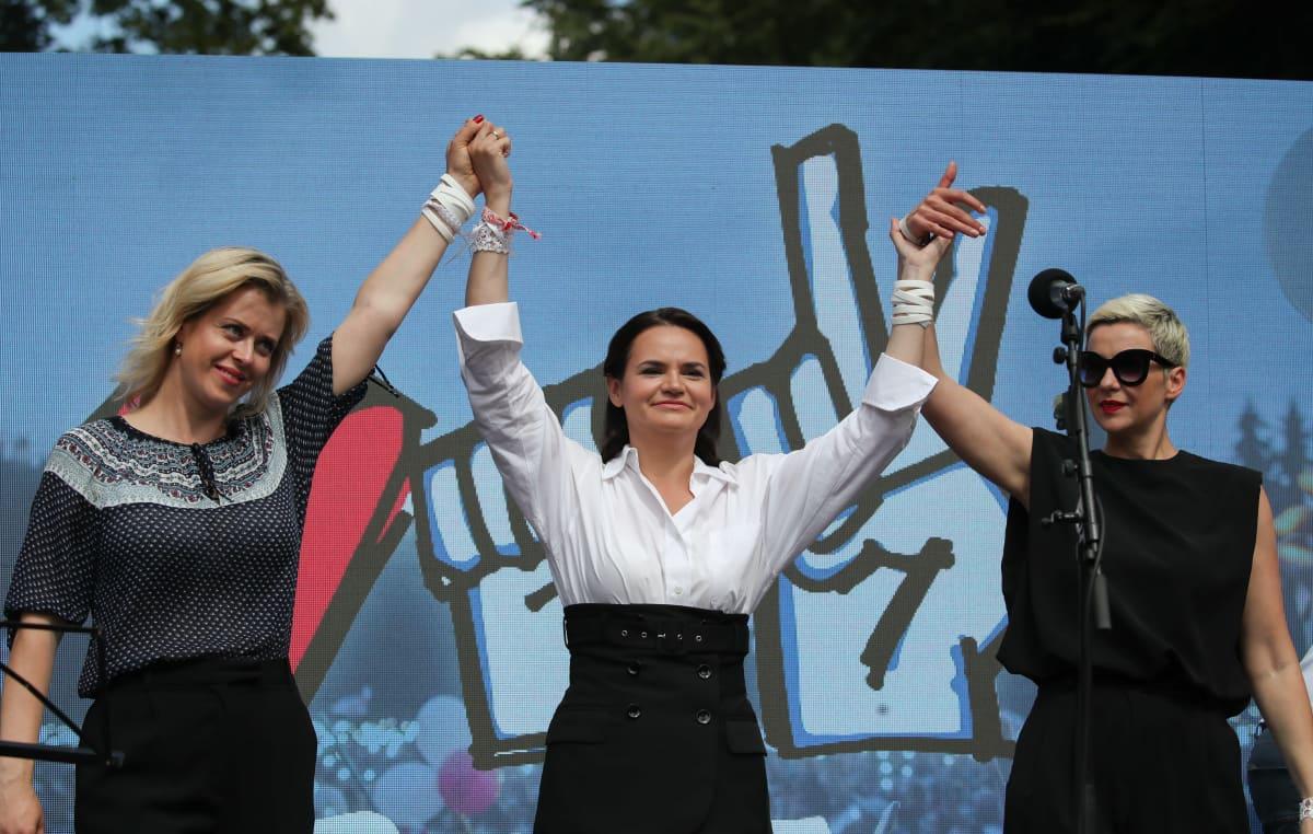 Kampanjatilaisuus Valko-Venäjällä.