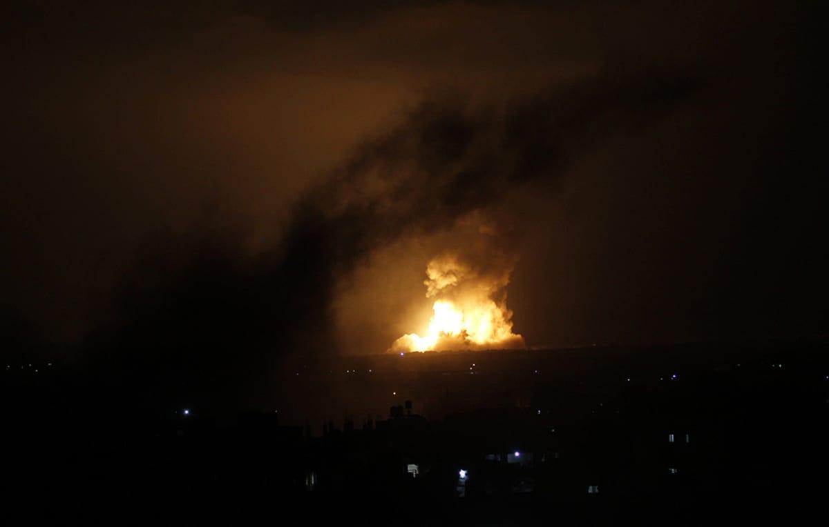 Israel iski Rafahiin, Gazaan jälleen 9. heinäkuuta 2014.