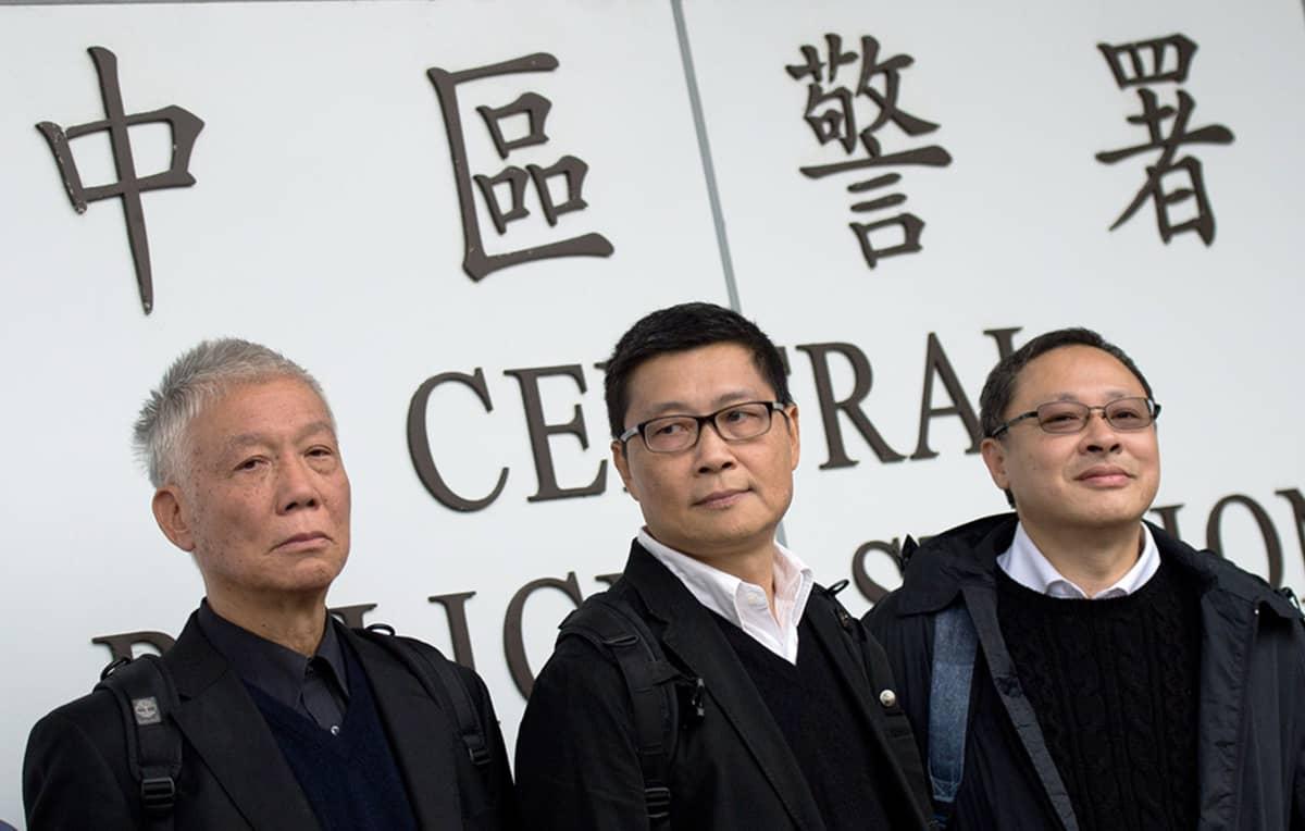 Chu Yiu-ming, Chan Kin-man ja Benny Tai.