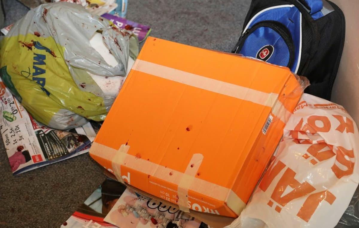 Postipaketti rikospaikalla