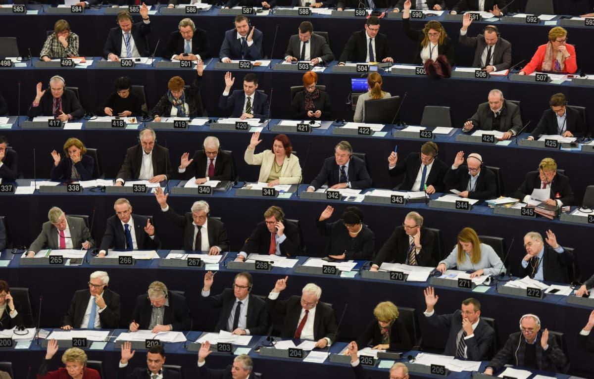 Euroopan parlamentin jäsenet äänestivät täysistunnossa 6. helmikuuta.