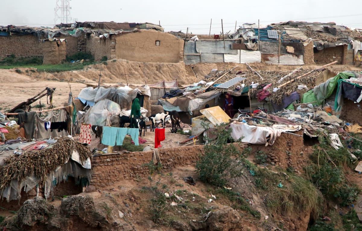 Pakolaisleiri Pakistanissa.