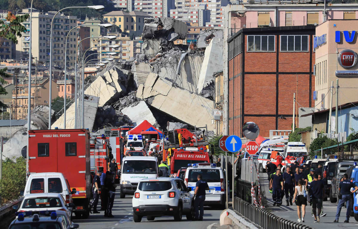 romahtanut silta Genovassa