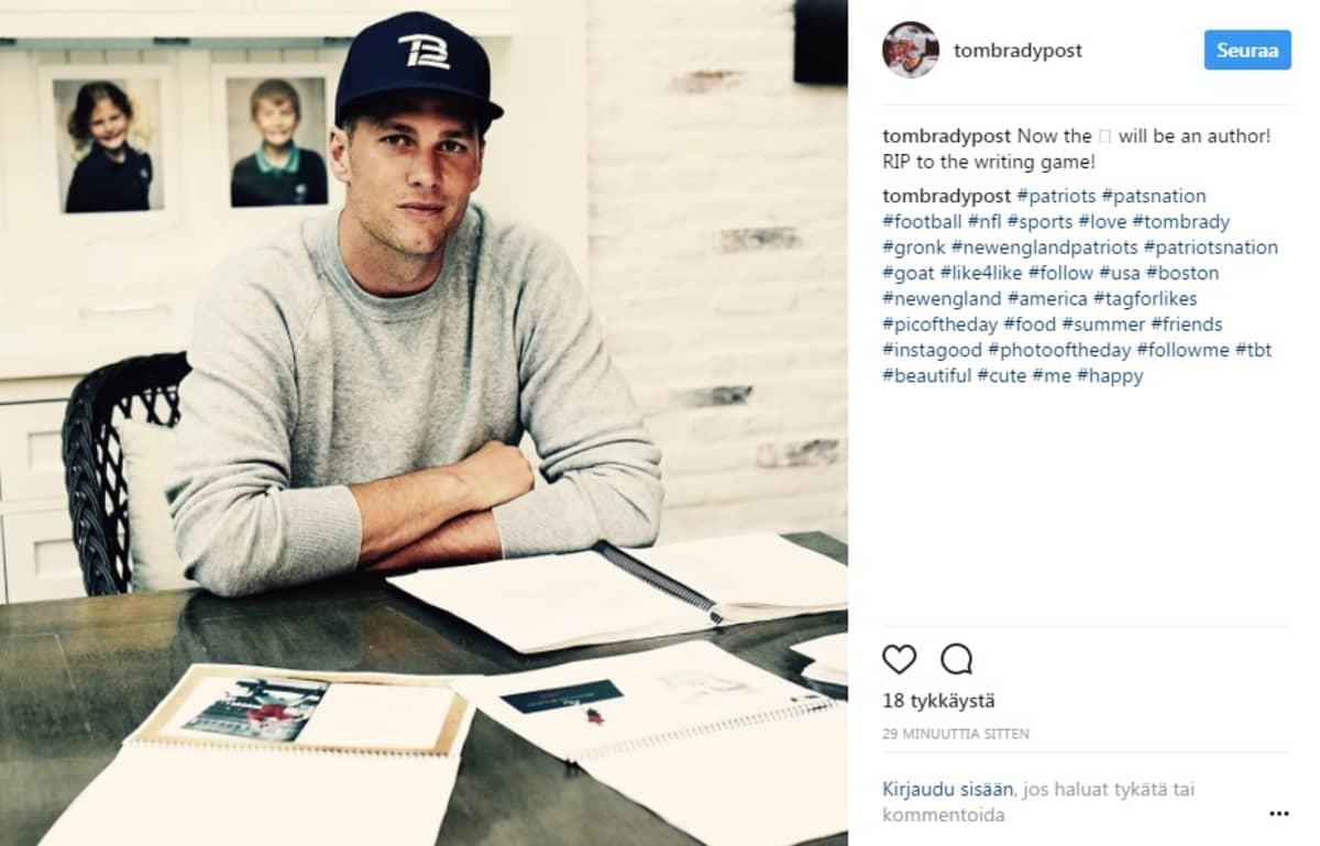 Tom Bradyn Instaram-tililtä