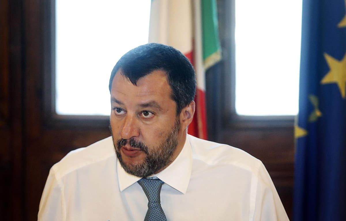 Sisäministeri Matteo Salvini.